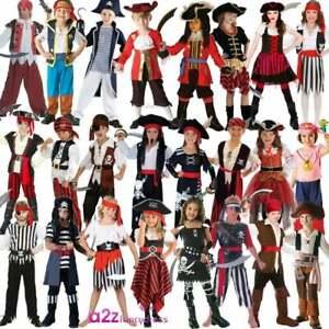 Ragazzi Ragazze Pirata JIM Mar dei Caraibi Fancy Dress Up Costume Outfit