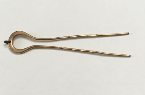 ANTIQUE VICTORIAN GOLD TONED HAIRPIN
