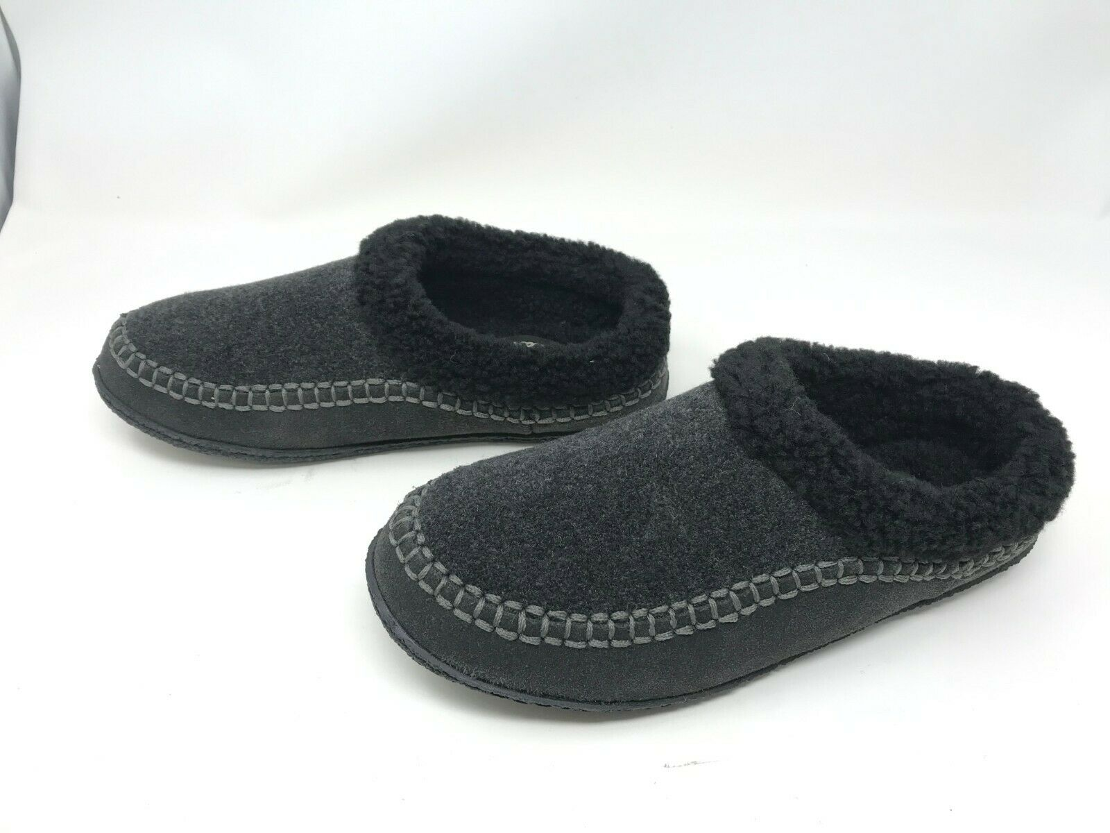 Womens Clarks (JMH1265W) Ariana Charcoal Slippers (BX5)