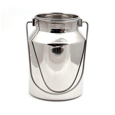 Zenia Gallon Metal Jug Stainless Steel Jar Metal Milk Can Milk Bottle with Lid