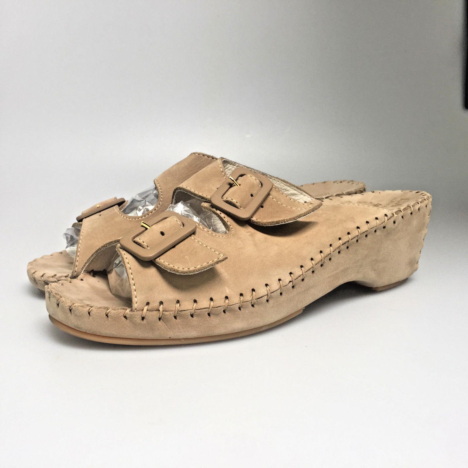La Plume Damenschuhe Sandales Jen Größe 41 Tan Braun Designer Leder Schuhes 10 US