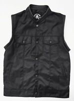 Outlaw Cycle Products Textile Motorcycle Biker Vest With Gun Pockets