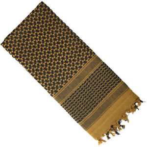 Image is loading Shemagh-Coyote-amp-Black-Desert-Arab-Scarf-ROTHCO- ce50a8b5dab