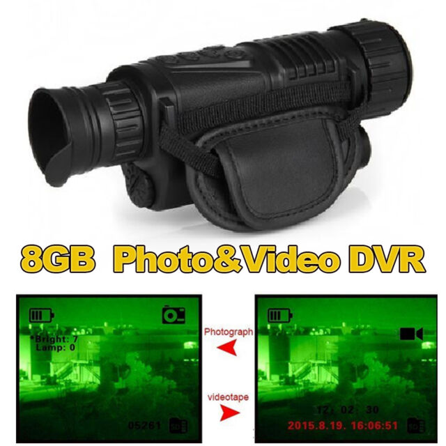 Monocular Night Vision Goggles Security Cameras IR Tracker Video Camera Recorder