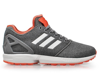 Adidas pour femme UK 4 ZX FLUX NPS 2.0 Gris Blanc Orange Baskets Baskets Chaussures | eBay