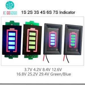 1S 2S 3S 4S Lipo Li-ion Battery Capacity Indicator Level