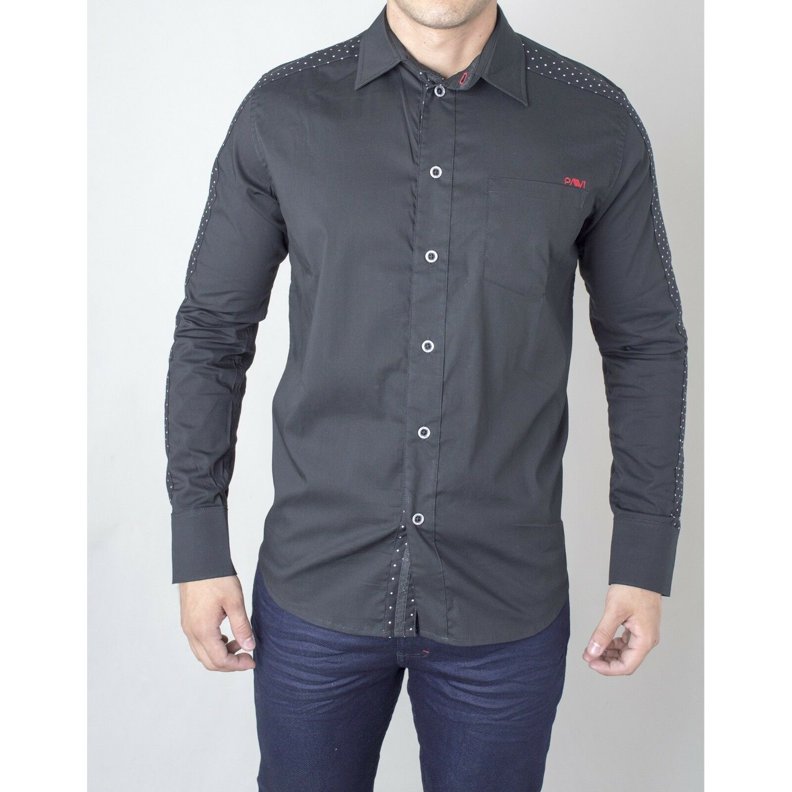 Pavi  shirt schwarz 11-0082 for men