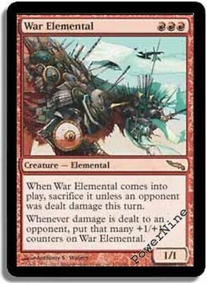 1 FOIL War Elemental Red Mirrodin Mtg Magic Rare 1x x1