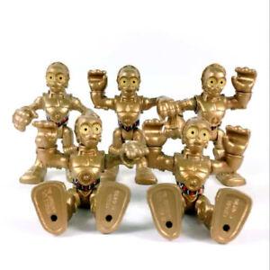 Lot-5Pcs-Star-Wars-Playskool-Galactic-Heroes-C3PO-Foot-Droid-hasbro-Figure-toys