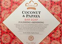 Nubian Heritage Coconut And Papaya Soap 5 Oz X 6 Bars