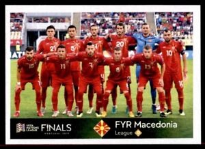 Panini Road To Euro 2020 Team Photo Fyr Macedonia Uefa Nations League No 476 Ebay