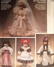 """NEW/VINTAGE 1995 'MC CALL'S' 13""""&16"""""""" VICTORIAN DOLL CLOTHES PATTERN 5907"""