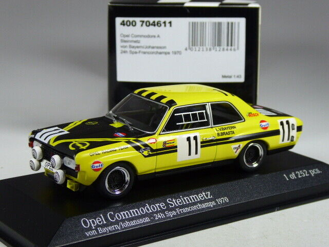 (ki-04-20) minichamps opel commodore bush of Bavaria 1970 in 1 43 in Emb. orig