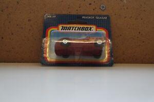 Matchbox-MB49E-Peugeot-quaser-Rojo-Caja-Original-Sellado-T15-Perfecto
