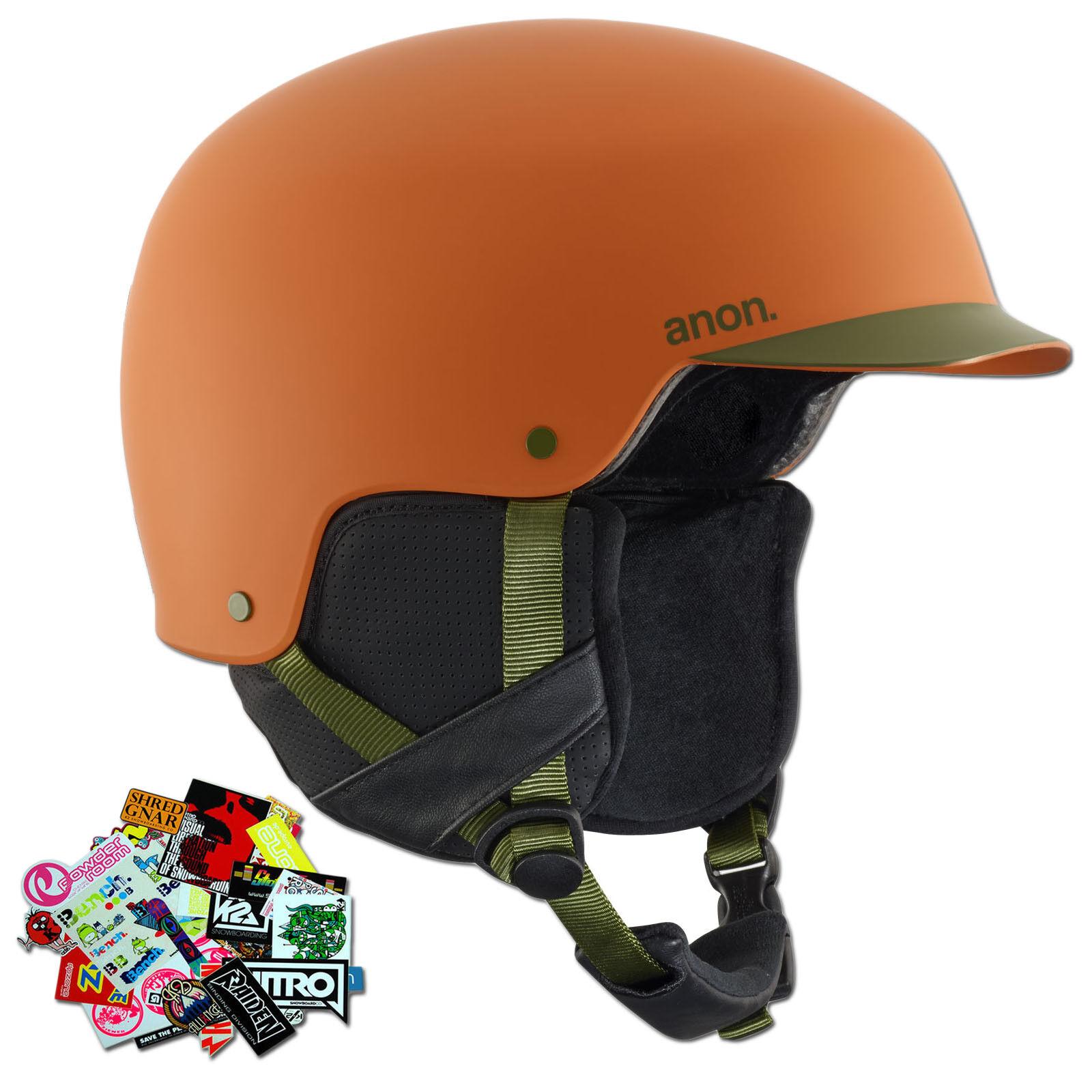 Anon Flash Naranja Talla S 2018  Hombre Esquí & Casco de Snowboard + Stickerset