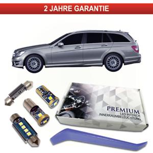 Mercedes-C-Klasse-W204-S204-Kombi-LED-Innenraumbeleuchtung-18-SMD-Set-Check-weiss