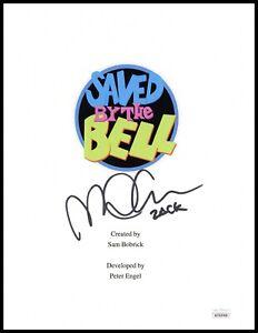 Mark Paul Gosselaar Autograph Signed Script Cover - Saved by the Bell (JSA COA)