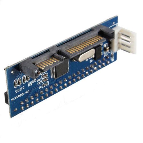 """PATA 40-Pin IDE Buchse auf SATA Serial 7+15Pin 22-Pin Stecker Karte 3.5 /""""HDD AHS"""