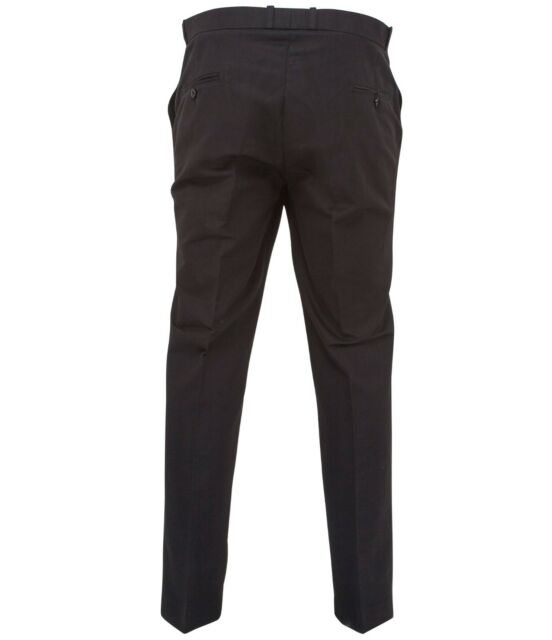 Relco Mens Stay Press Burgundy Trousers Sta Press Retro Mod Skin Skinhead Ska
