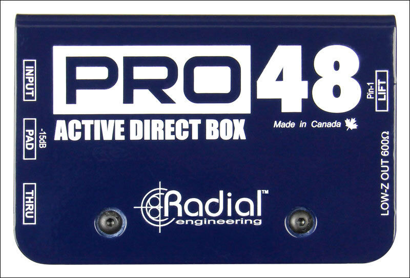 Radial PRO48 Active Direct DI Box Superb Audio Quality Live Audio Perfection