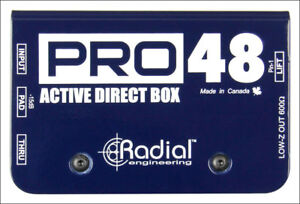 Radial-PRO48-Active-Direct-DI-Box-Superb-Audio-Quality-Live-Audio-Perfection