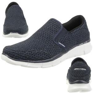 Skechers-Egaliseur-Slickster-Pantoufles-pour-Hommes-Mocassin-a-Enfiler-Bleu