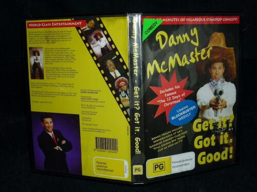 1 of 1 - DANNY MCMASTER GET IT? GOT IT. GOOD!  (DVD, PG)(EX RENTAL)