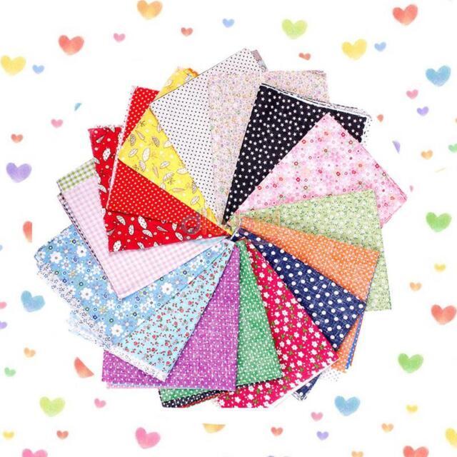 1/5pcs Fabric Square Cotton Patchwork Quilting Floral Polycotton High Quality