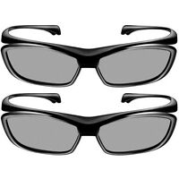 Pack Of 2 Official Panasonic Viera Passive 3d Glasses Eyewear Ty-ep3d10ub Us