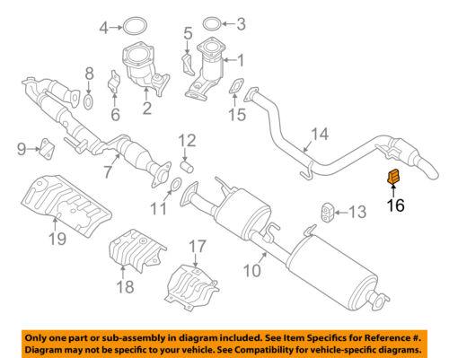 NISSAN OEM Exhaust-Tailpipe Hanger 20651AF400