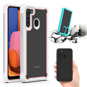 For-Samsung-Galaxy-A21-Case-Hybrid-Shockproof-Rubber-Bumper-Protective-Cover