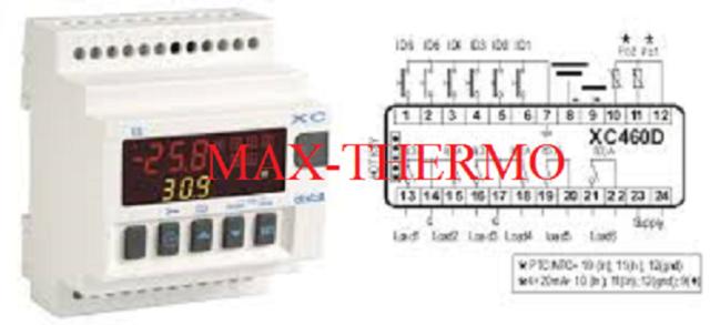 Dixell XC460D Controlador digital para administrar hasta 6 Compresores o ventiladores 230 V