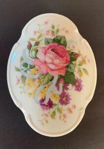 Vintage Porcelain Trinket Jewelry Music Box Floral Peoney Spring Mother Wedding