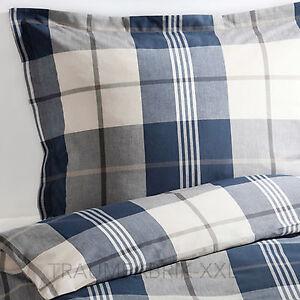 ikea kustruta bettw sche bettbezug 140x200 cm bettw scheset karo blau 2 tlg neu ebay. Black Bedroom Furniture Sets. Home Design Ideas