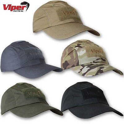 VIPER TACTICAL FLEXI FIT MESH CAP ARMY BASEBALL HAT MESH RIPSTOP CAMO BLACK