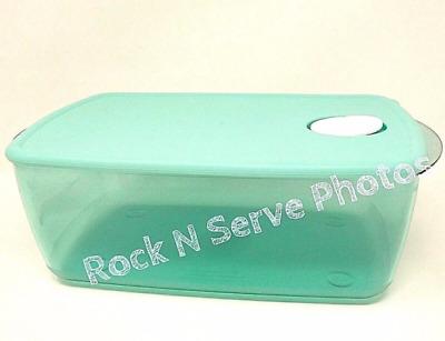 Tupperware Rock N Serve Large Deep 3-3//4 quart Microwave Bowl Bermuda Green New