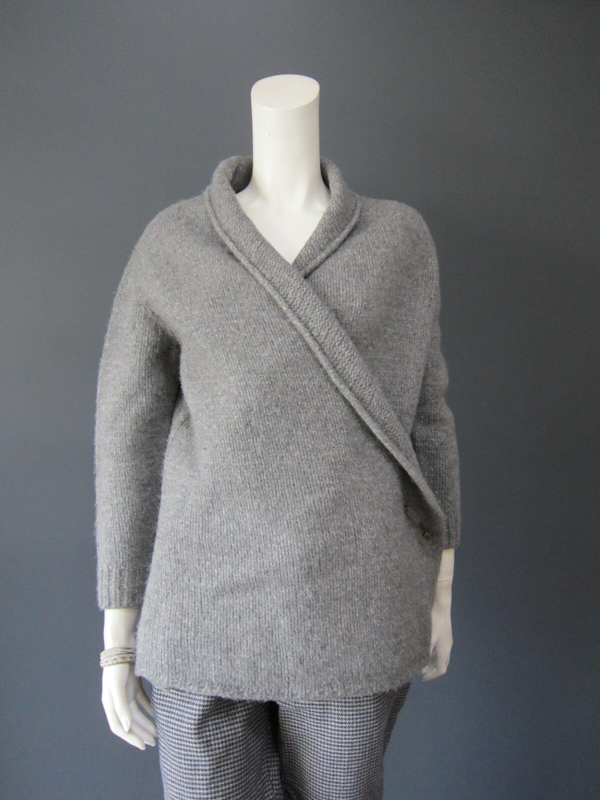 JOURNAL JOURNAL JOURNAL STANDARD LUXE 65 % wool long cardigan NEW safety pin to adjust c0f385
