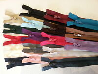 """Nylon Open Ended Zip / Choice of Size & Colour - 10""""- 34"""" Size No.5 Open End"""