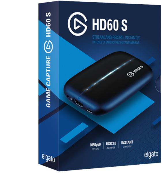 NB Elgato Game Capture HD60-S Xbox One//PS4//Wii USB 3.0 1080p HDMI Stream A6103