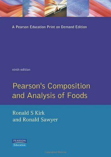 Pearson s Composition and Analysis of Foods