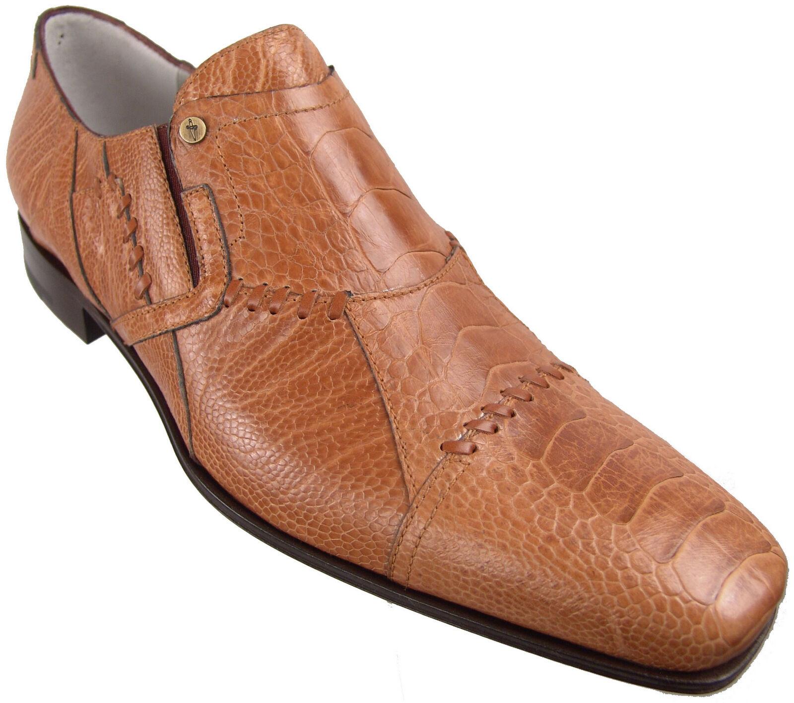 1200 CESARE PACIOTTI 6 US Véritable Autruche peau Mocassins Italien Designer chaussures