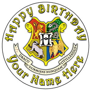Harry Potter Hogwarts Crest 7 5 Personalised Edible Icing Cake