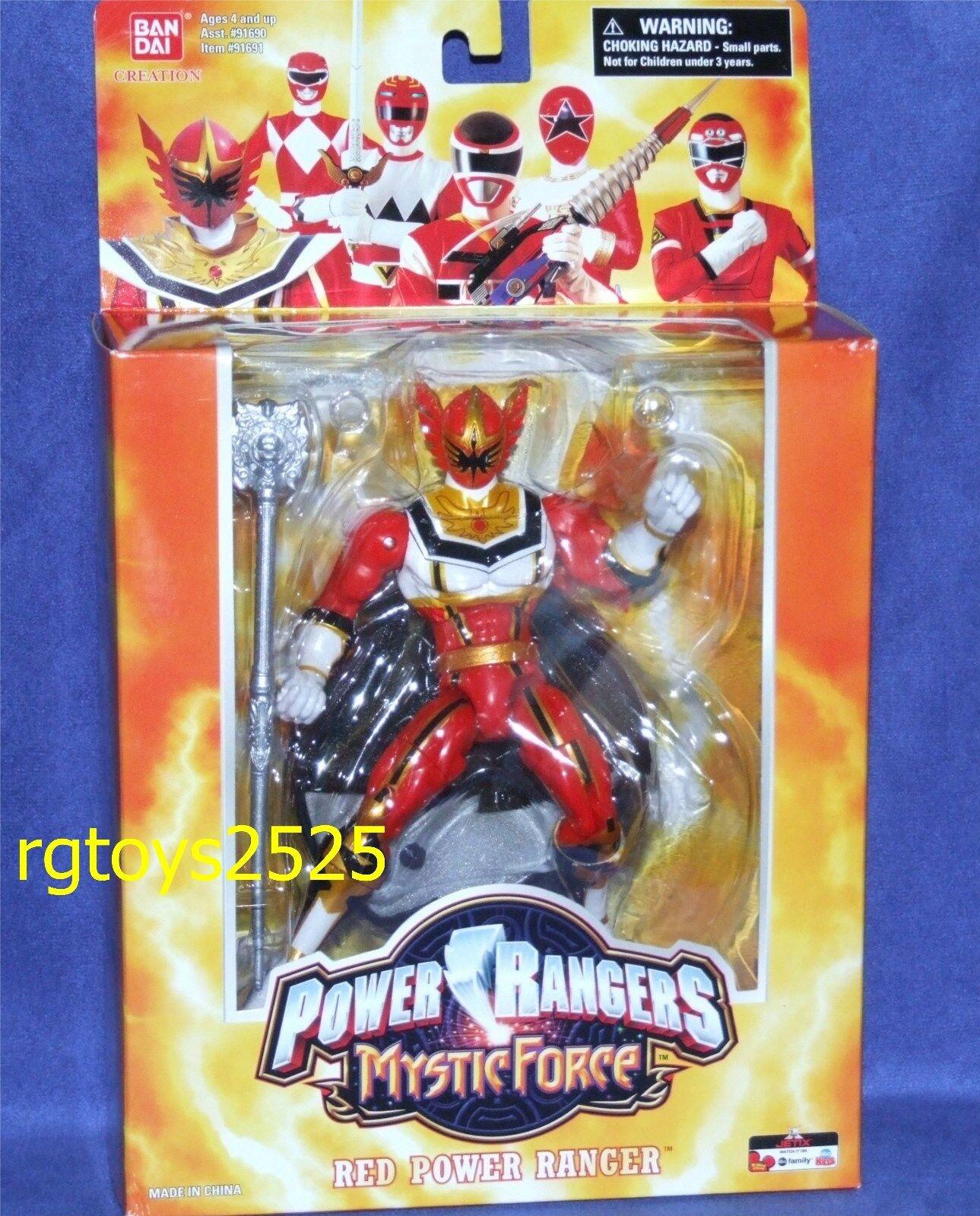 Power Rangers Mystic Force Power Ranger Rojo Nuevo 6.5  W Soporte Sellado de fábrica 2006