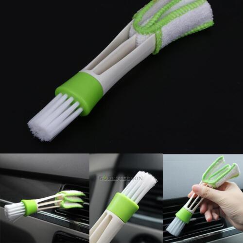 Grün Auto Klimaanlagen Staub Reinigung Pinsel Luftdüse KFZ Fensterladen Bürste