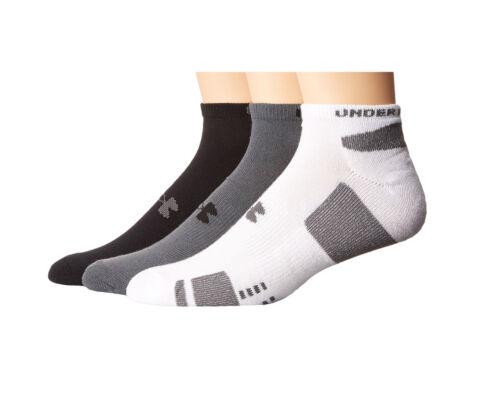 Under Armour Men/'s HeatGear No Show 3-Pack Socks