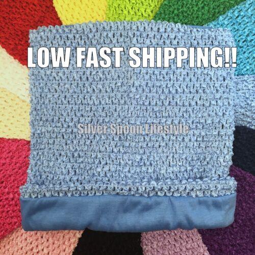 "8/"" 9/"" Light Blue Crochet Tutu Tube Top 6/"" 10/"" 12/"" 16/"" Unlined /& Lined USA"