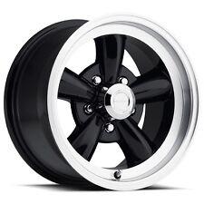 "Set of 4 Rims 5 Lug 5x120.65 5x4.75 Black n Machined 15"" Inch Wheels 15x7 -7mm"