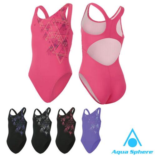 Aqua Sphere AELYS Girls Swimming Costume Childrens Swimwear Kids Swimsuit Infant