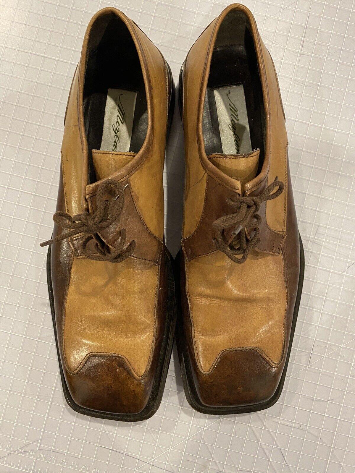 "Mezlan ""MALTA"" Mens Brown Tan Leather Square Toe … - image 1"