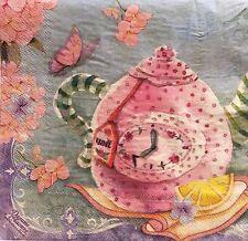 2 single paper napkins for decoupage Crafts collection Serwetki Teapot Cups Tea